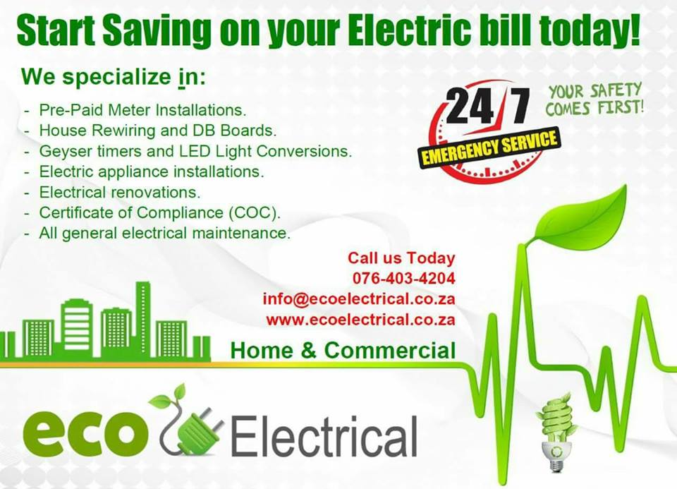 Eco Electrical - Johannesburg electricians