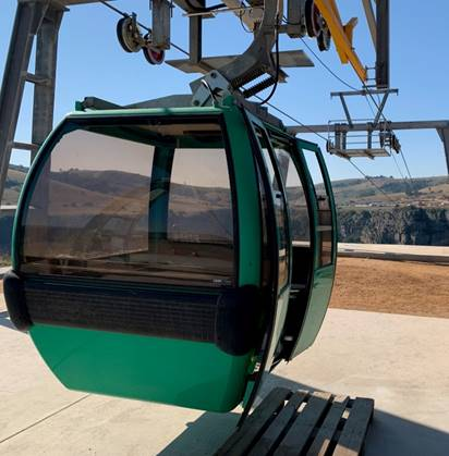 Cable car in use at N2WCR project