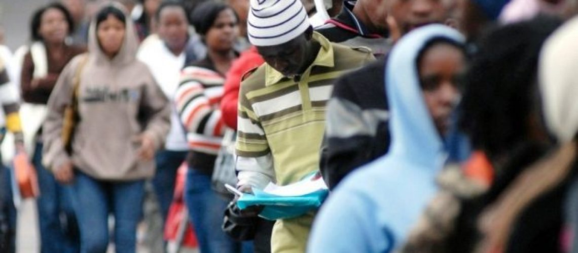 South Africa unemployment rate rises to 2008 levels