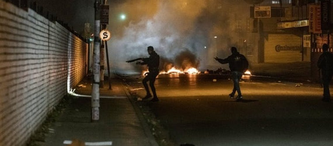 South Africa in flames